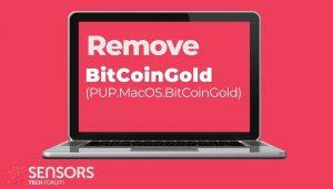 remover PUP MacOS BitCoinGold sensorstechforum