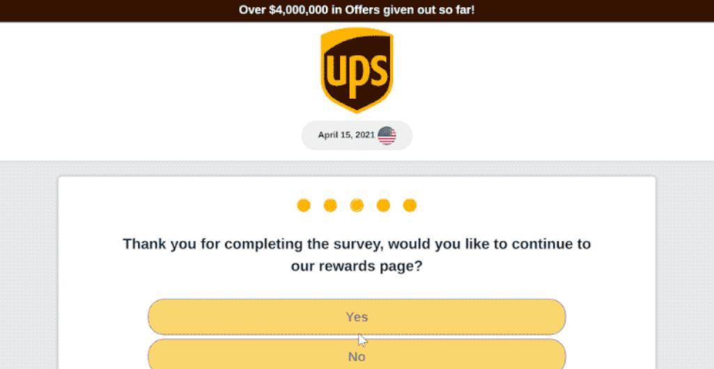 UPS Rewards Fraud