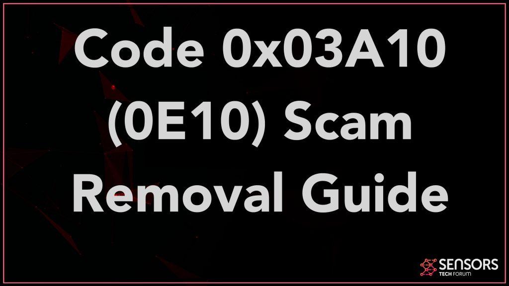 Code 0x03A10 (0E10) Scam