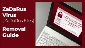 remove ZaDaRus virus files sensorstechforum