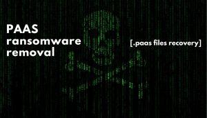 remove paas virus ransomware .paas files recover sensorstechforum