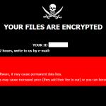 root virus ransom message