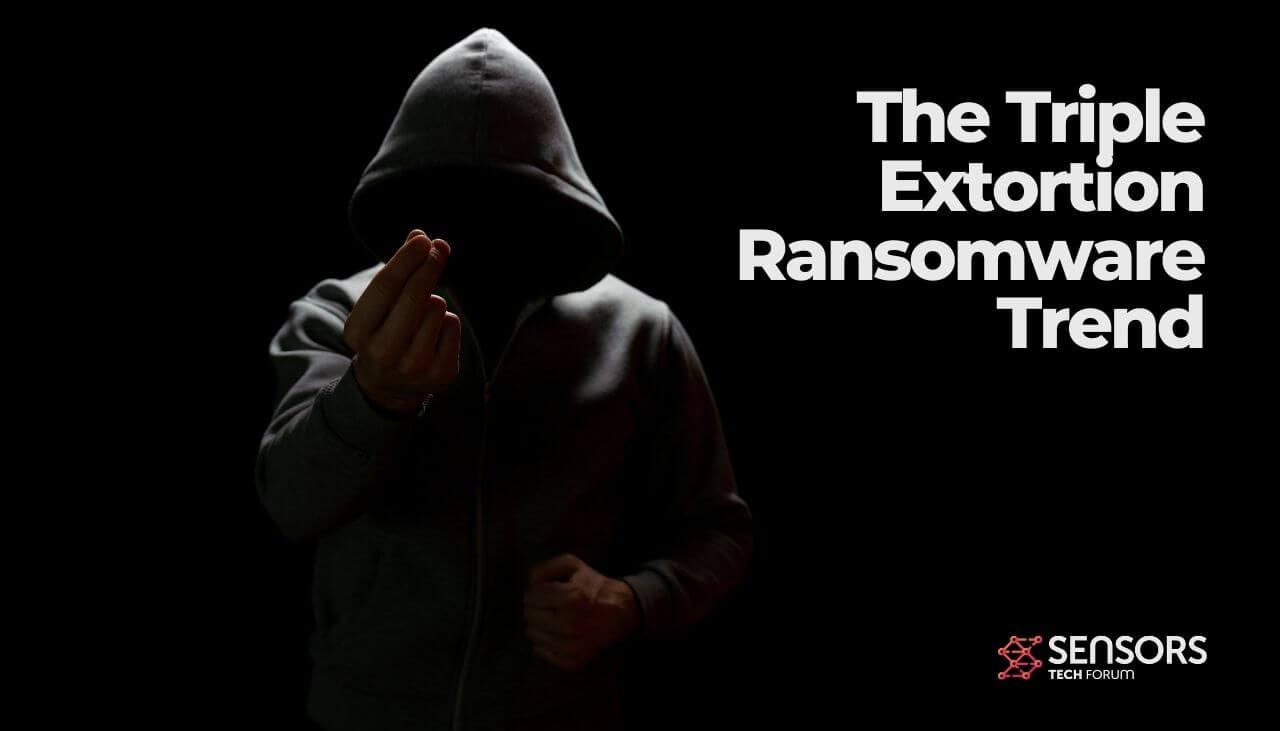 triple extortion ransomware trend - sensorstechforum