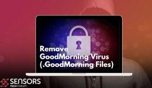 Remove GoodMorning Ransomware Virus SensorsTechForum Guide