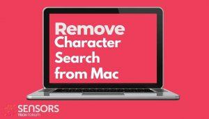 remove CharacterSearch mac virus sensorstechforum guide