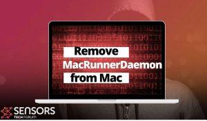remove MacRunnerDaemon mac virus removal guide sensorstechforum