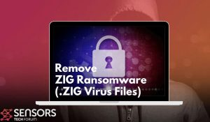 remove zig virus ransomware removal guide sensorstechforum