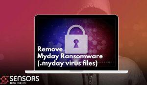 Remove Myday Ransomware Virus SensorsTechForum