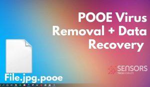 remove pooe ransomware virus pooe files sensorstechforum