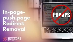 In-page-push.page redirect removal guide sensorstechforum