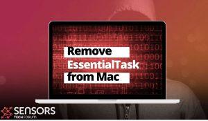remove EssentialTask mac virus sensorstechforum