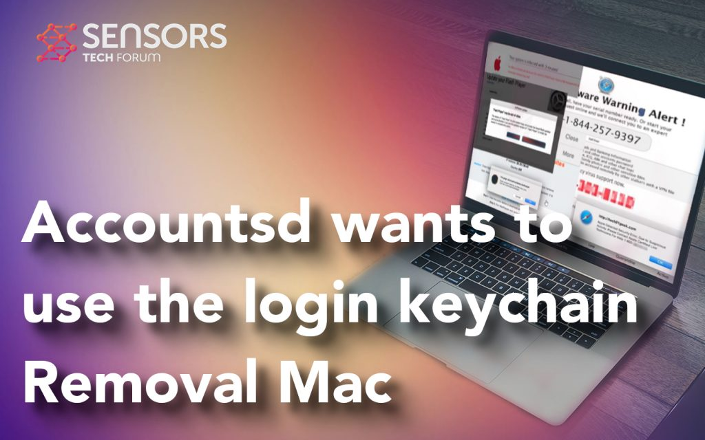 Accountsd wants to use the login keychain