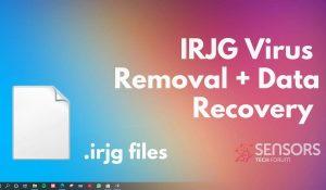 Remove Irjg Virus File Irjg Ransomware SensorsTechForum Removal Guide