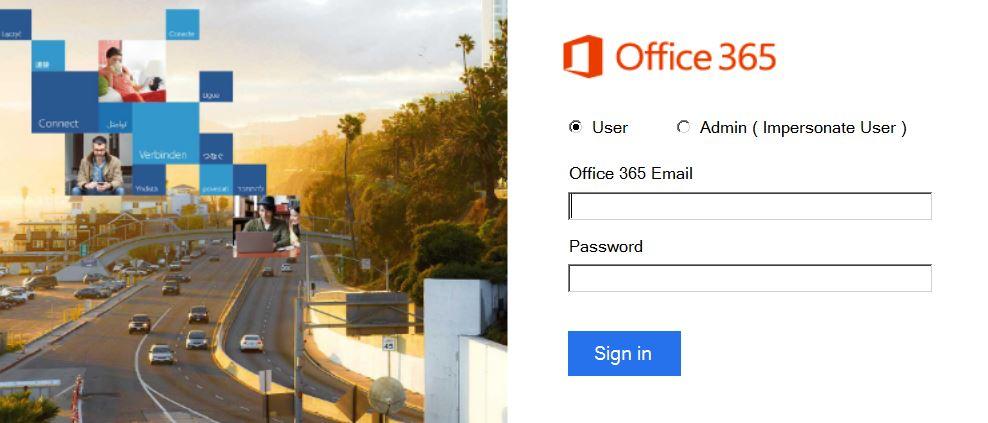 office365 backup tool login