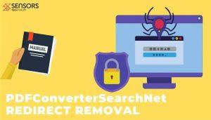 remove PDFConverterSearchNet hijacker redirect