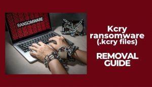 remove kcry ransomware virus restore kcry files
