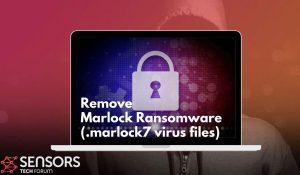 remove marlock7 virus files sensorstechforum ransomware guide