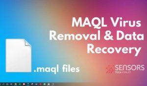 remove maql virus files maql ransomware sensorstechforum guide